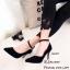 รองเท้าคัทชูกำมะหยี่รัดข้อ (สีดำ) thumbnail 2