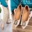 รองเท้าส้นแบนแต่งอะไหล่ Style Gucci (สีชมพู) thumbnail 11
