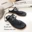 รองเท้าแตะแต่งเพชรสไตล์ CC (สีดำ) thumbnail 1