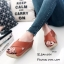 รองเท้าส้นเตารีดสวมไข้ว (สีครีม) thumbnail 10