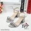 รองเท้าส้นตันสไตล์ MIU MIU (สีเงิน) thumbnail 5