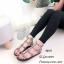รองเท้าแตะแต่งกลิตเตอร์ Style Valentino (สีดำ) thumbnail 2