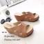 รองเท้าส้นเตารีดหน้าสานสไตล์ลำลอง (สีดำ) thumbnail 8