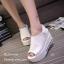 รองเท้าลำลองส้นเตารีดแต่งเมจิกเทป (สีดำ) thumbnail 4