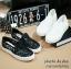 พร้อมส่ง : รองเท้าลูกไม้ทรงรูเฟอร์ สีดำ (ส่งฟรีEMS!!) thumbnail 3