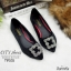 รองเท้าคัทชูส้นแบนสไตล์MN (สีแดงเลือดหมู) thumbnail 5