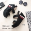 รองเท้าส้นเตารีดเมจิกเทปแต่งลาย (สีขาว) thumbnail 7
