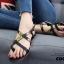 รองเท้าแตะรัดส้นสไตล์ Dior (สีดำ) thumbnail 5