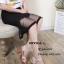 รองเท้าส้นตันสายไขว้สไตล์ลำลอง (สีดำ) thumbnail 10