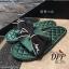 รองเท้าแตะโบว์สไตล์แฟชั่นเกาหลี (สีดำ) thumbnail 13