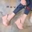 รองเท้าส้นเตารีดสวมแต่งหมุด (สีชมพู) thumbnail 4