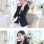 เสื้อสูททำงานสีดำ แขนยาว รหัสสินค้า 10-WT011-ดำ thumbnail 2