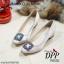 รองเท้าคัทชูส้นตัน Manolo Blahnik Style (สีครีม) thumbnail 2