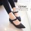 พร้อมส่ง : รองเท้าคัทชูกากเพชร (สีดำ) thumbnail 1