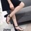 รองเท้าส้นตัน Style Zara T-Strap (สีแดง) thumbnail 9