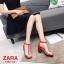 รองเท้าส้นตัน Style Zara T-Strap (สีแดง) thumbnail 2