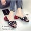 รองเท้าแตะโบว์แต่งลายจุดสไตล์แฟชั่นเกาหลี thumbnail 1