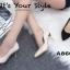 รองเท้าคัทชูส้นโลหะทรงหัวแหลม (สีดำ) thumbnail 8