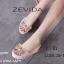 รองเท้าลำลองส้นเตารีดแต่งโบว์ (สีครีม) thumbnail 6