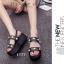 รองเท้า Platform แต่งมุก (สีดำ) thumbnail 4