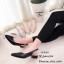 รองเท้าคัทชูรัดส้นทรงหัวแหลม (สีครีม) thumbnail 8