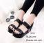 รองเท้าส้นเตารีดเมจิกเทปแต่งลาย (สีขาว) thumbnail 5