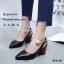 รองเท้าคัทชูคล้องอะไหล่มุก (สีดำ) thumbnail 2
