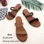 รองเท้าแตะแแต่งสายคาดสไตล์ลำลอง (สีเขียว) thumbnail 8