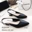 รองเท้าคัทชูรัดส้นทรงหัวแหลม (สีครีม) thumbnail 6