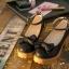 พร้อมส่ง : รองเท้าคัชชูแฟชั่นแต่งโบว์ (สีดำ) thumbnail 4