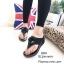 รองเท้าแตะเสริมส้นแต่งดอกไม้ Style CC (สีเทา) thumbnail 5