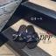 รองเท้าแตะโบว์สไตล์แฟชั่นเกาหลี (สีดำ) thumbnail 4