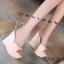 รองเท้าส้นเตารีดสวมแต่งหมุด (สีชมพู) thumbnail 12