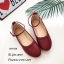รองเท้าคัทชูส้นแบนถักเปีย (สีแดง) thumbnail 3
