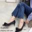 รองเท้าคัทชูซาตินแต่งโบว์ (สีดำ) thumbnail 2