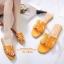 รองเท้าแตะ Style Hermes ฉลุลาย (สีดำ) thumbnail 10