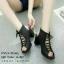 รองเท้าคัทชูส้นตันแต่งเชือก (สีนู้ด) thumbnail 7