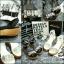 พร้อมส่ง : รองเท้าส้นตึกประดับเพชร (สีขาว) thumbnail 4