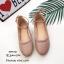 รองเท้าคัทชูส้นแบนถักเปีย (สีแดง) thumbnail 9