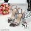 รองเท้าส้นตันสไตล์ MIU MIU (สีเงิน) thumbnail 13