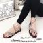 รองเท้าแตะสวมแต่งอะไหล่เพชร (สีดำ) thumbnail 7