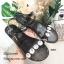 รองเท้าแตะยางแต่งคริสตัล (สีเงิน) thumbnail 6