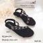 รองเท้าแตะเสริมส้นแต่งดอกไม้ (สีกรม) thumbnail 5