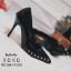รองเท้าคัทชูหน้าวีแต่งอะไหล่ (สีดำ) thumbnail 3