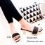 รองเท้าลำลองเปิดส้นผ้ายีนส์ (สีดำ) thumbnail 2
