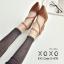 รองเท้าคัทชูส้นต้นแต่งสายรัด2ชั้น (สีดำ) thumbnail 7