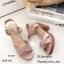 รองเท้าส้นตันสายไขว้สไตล์ลำลอง (สีดำ) thumbnail 15