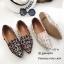 รองเท้าคัทชูต่อผ้าหลากสี (สีดำ) thumbnail 7