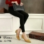 รองเท้าคัทชูส้นปรอทเงินสไตล์เกาหลี (สีเหลืองมัสตาร์ด) thumbnail 3