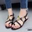 รองเท้าแตะรัดส้นสไตล์ Dior (สีดำ) thumbnail 2